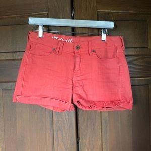 Madewell Orange Denim Cutoff Shorts Sz 26